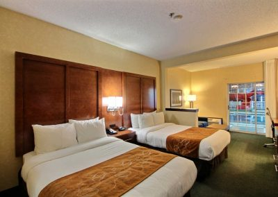 Comfort Suites Appleton Two Beds Sofa Sleeper Poolside Sliding Glass Door