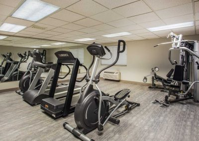 Baymont Inn and Suites Madison WI Fitness Center Elliptical Treadmill Stationary Bike Weight Machine