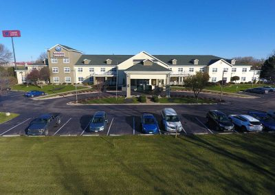 Comfort Suites Appleton Aerial Exterior Parking Lot View