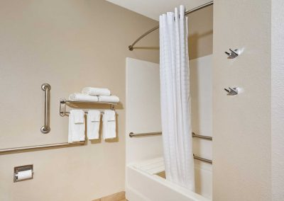 Candlewood Suites Milwaukee Airport ADA Bathroom Rails Tub