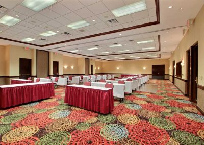 Holiday Inn and Suites Madison WI Conference Room Classroom Setup Banquet Tables