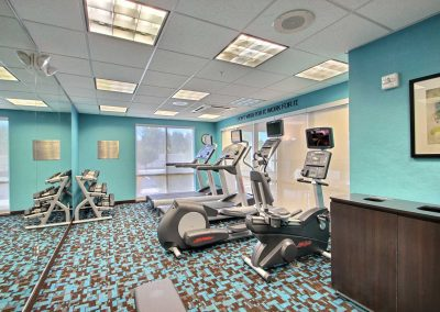 Fairfield Inn and Suites Milwaukee Airport Fitness Center Free Weights Treadmills Elliptical Stationary Bike