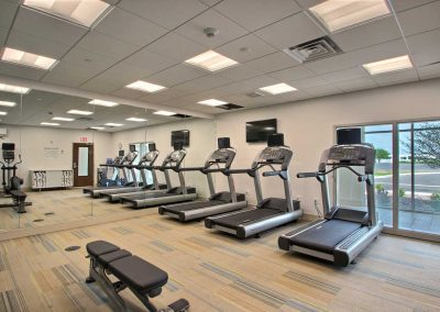 Holiday Inn Express Fond du Lac Fitness Center Three Treadmills Window
