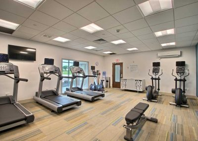 Holiday Inn Express Fond du Lac Fitness Center Three Treadmills Two Ellipticals Stationary Bike