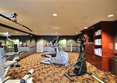 Holiday Inn and Suites Madison WI Fitness Center Weight Machine Stair Stepper Elliptical Treadmill