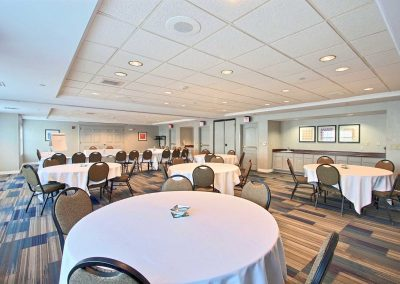 Holiday Inn Express Milwaukee Airport Meeting Room Banquet Round Table Chairs