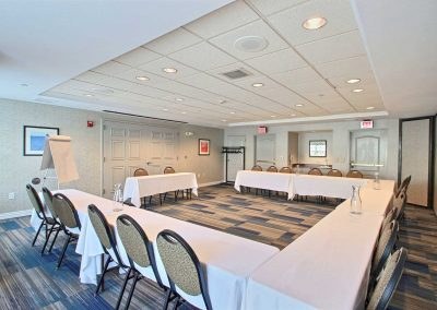 Holiday Inn Express Milwaukee Airport Meeting Room U Shape Setup Tables Chairs