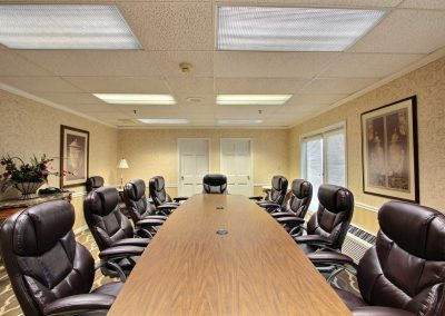Comfort Suites Appleton Boardroom Executive Leather Chairs French Doors