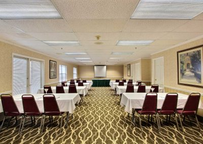 Comfort Suites Appleton Meeting Room Classroom Setup French Doors