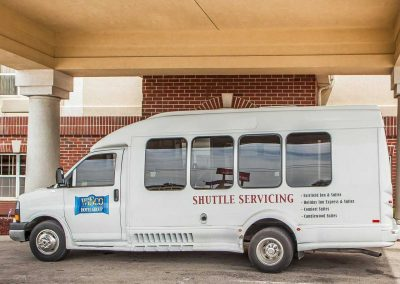 Wisco Hotel Group Milwaukee Airport Shuttle Van