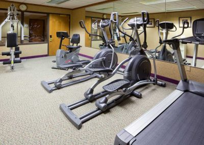 Holiday Inn Express Oshkosh Fitness Center Ellipticals Treadmill Mirrored Wall