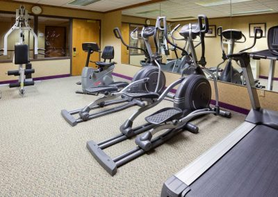 Holiday Inn Express Oshkosh Fitness Center Two Ellipticals Treadmill Weight Machine
