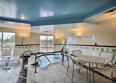 Fairfield Inn and Suites Milwaukee Airport Spa Hot Tub Pool Area