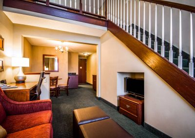 Comfort Suites Madison WI Two Story Suite Staircase Sofa Sleeper Desk