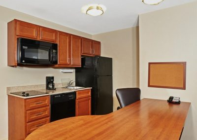 Candlewood Suites Milwaukee Airport Full Kitchen Desk Table Extended Stay