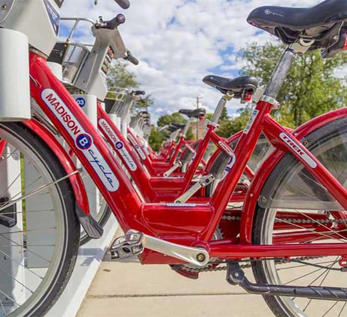 Madison WI bike rentals downtown