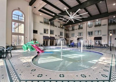 Comfort Suites Milwaukee Airport Kiddie Frog Slide Water Feature