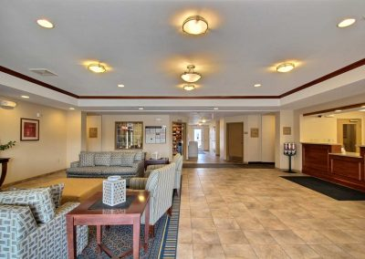Candlewood Suites Milwaukee Airport Lobby Seating Area Front Desk