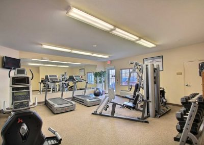 Candlewood Suites Milwaukee Airport Fitness Center Weight Machine Free Weights Treadmills Stationary Bike